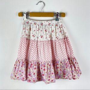 MINI BODEN Kids Tiered Floral Prairie Skirt 5-6Y
